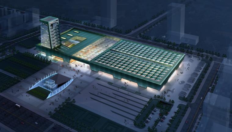 [安徽]某国际会展中心工程文体建筑方案文本(CAD+SU+文本)