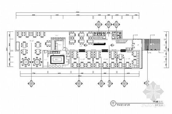 [重庆]全国连锁加盟特色火锅店室内施工图(含效果图)