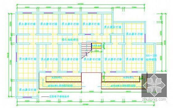 [安徽]综合服务中心装饰工程预算书(附施工图纸及软件文件)-一层地面布置图