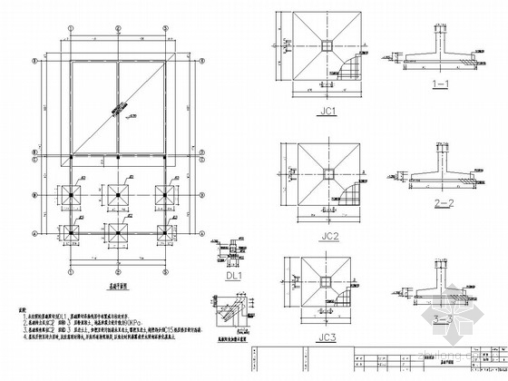 [江苏]单层框架结构消防水池水泵房结构施工图