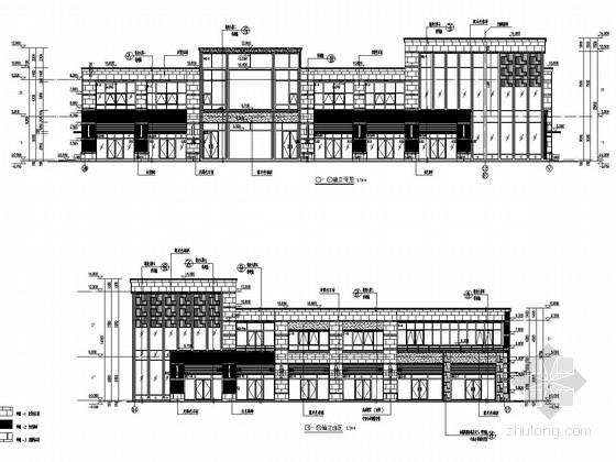 [郑州]两层框架结构商铺结构施工图(含建筑图)