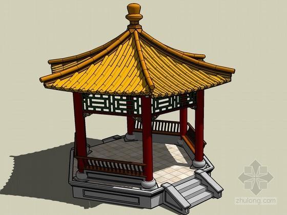 六角亭SketchUp模型