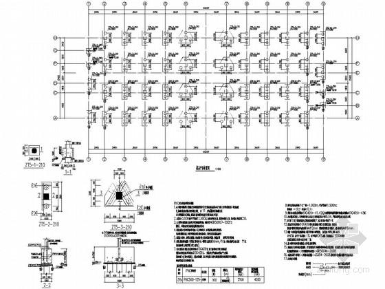 11层框架结构机械公司员工宿舍楼结构施工图
