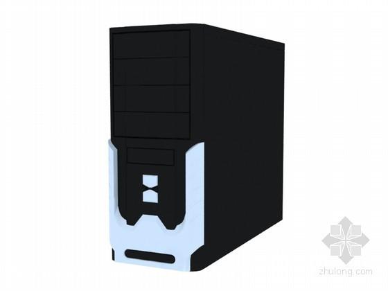 黑色机箱3D模型下载