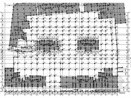 花园小区大型地下室车库结构施工图