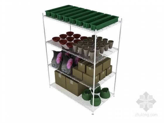 小商品货架3D模型下载
