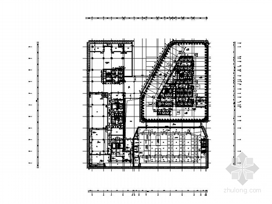 [天津]245米超高层玻璃幕墙金融大厦设计施工图-245米超高层玻璃幕墙金融大厦平面图