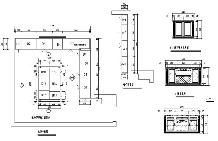 133套橱柜厨房设计CAD图块(内附案例)_3
