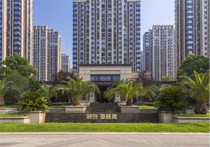 杭州融创瑷颐湾住宅景观的实景图