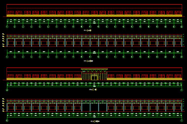 厂房网架结构施工图