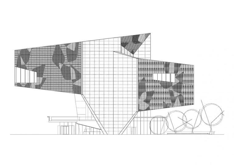 西班牙独特雕塑般构造的文化中心立面图 (32)
