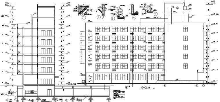 小学建筑设计初设图CAD-小学建筑设计立面图2
