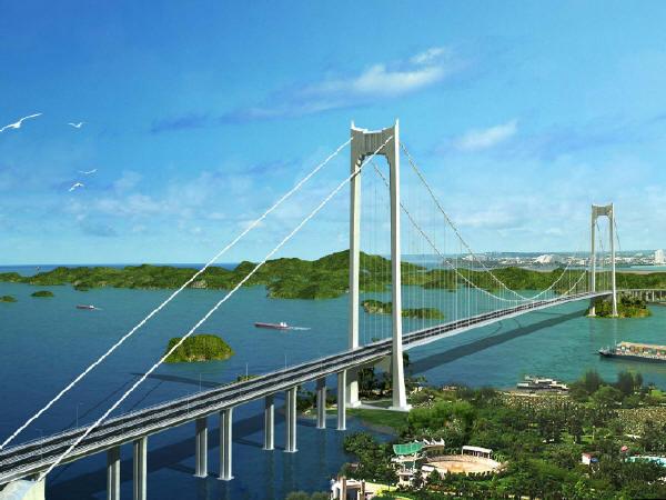 跨海大桥初步设计说明106页附方案图纸220张(主跨1160m及915m单跨吊组合梁悬索桥,660m钢混斜拉桥)