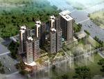 [深圳]现代风格高层点式品字形住宅建筑设计方案文本