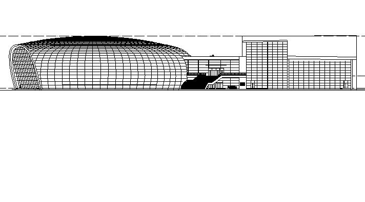 [山东]多层椭圆造型跳水游泳馆建筑施工图(含全专业建筑图纸)