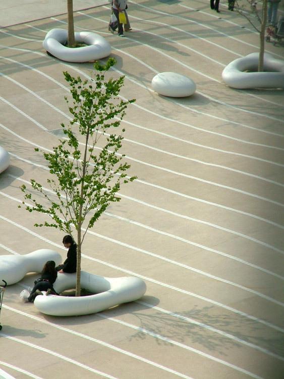 东京丰州LaLaport码头休闲区景观设计_4