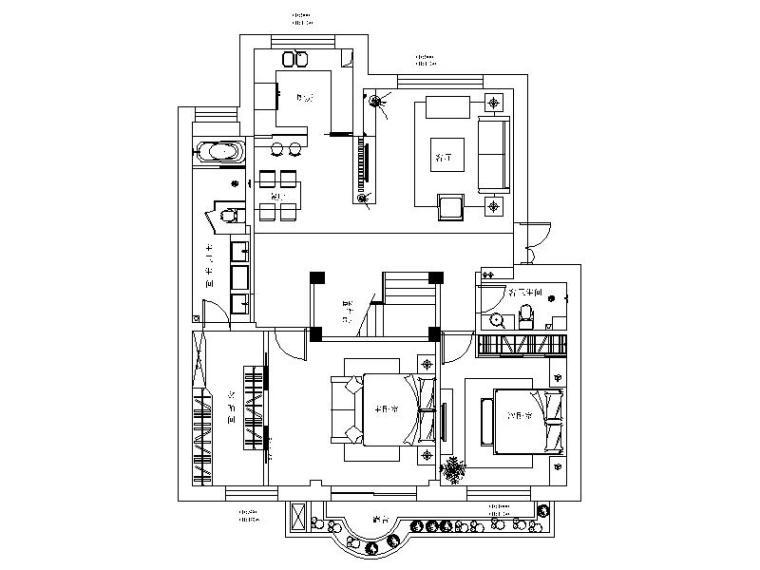 现代豪华LOFT住宅公寓设计施工图(含效果图)