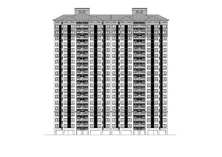 [湖北]商贸城居住小区住宅楼施工图(CAD)