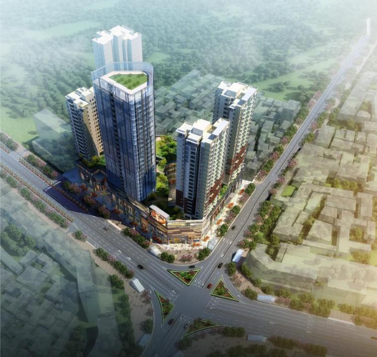 [湖北]高层休闲式商业综合体建筑设计方案文本