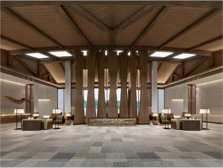 精装度假酒店设计方案效果图(含3D模型,材质,光域网)