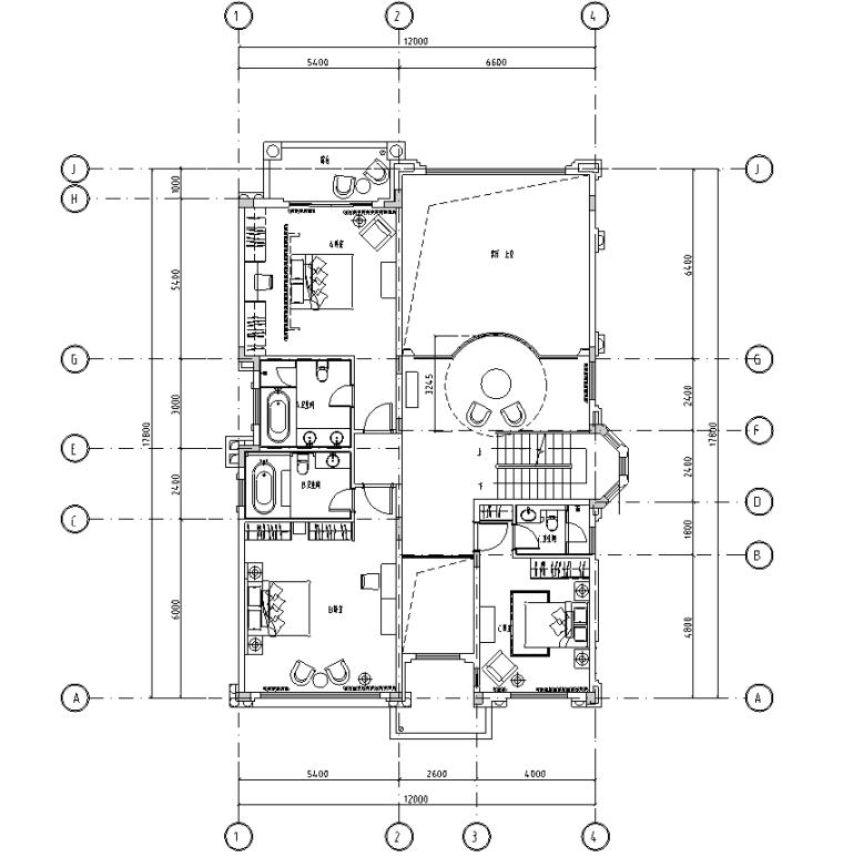 [浙江]美式古典别墅设计施工图及实景照片