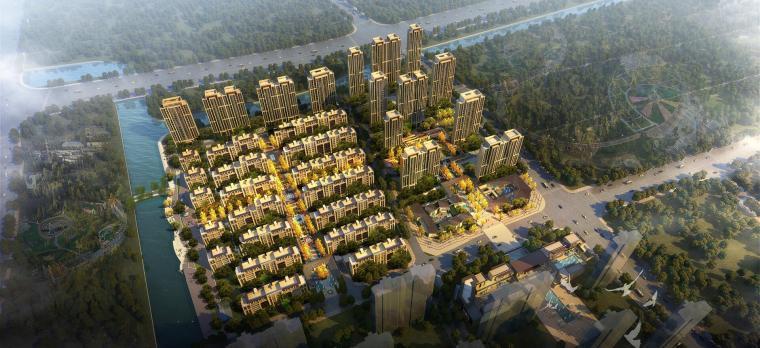 [浙江]现代典雅风格绿地宁波东部新郡建筑模型设计