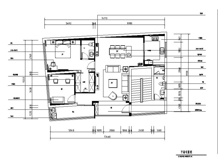 [福建]现代简约三居室套房住宅设计施工图(附效果图)