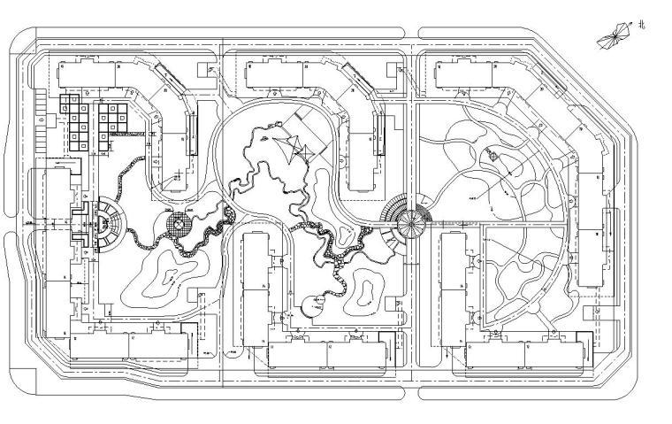 [北京]嘉润园国际社区全套景观施工图设计文本(含给排水+植物)