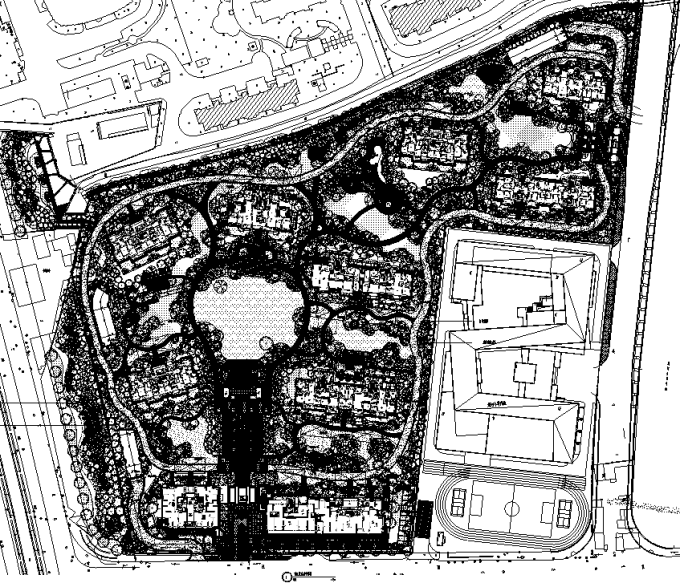 [上海]旧城改造顶级豪宅地块居住区景观设计全套施工图(附PDF施工图+实景图)