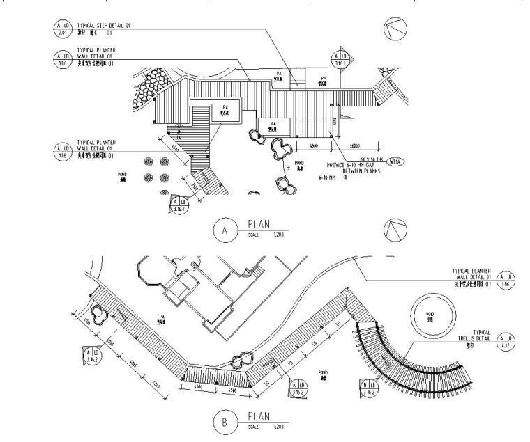 [四川]成都知名地产名城某居住区景观设计全套施工图(包含+植物配置)-铺装设计图4