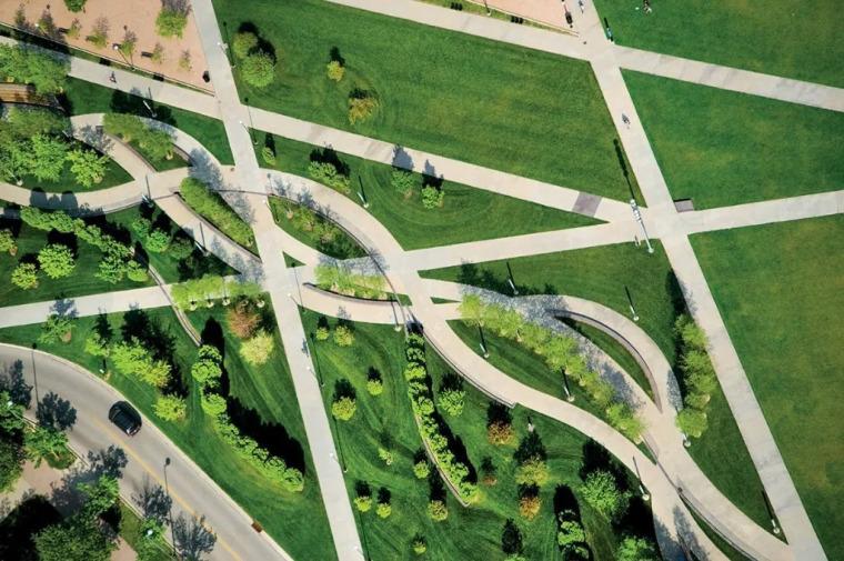 弧形园路的放线及收边,你知道多少?