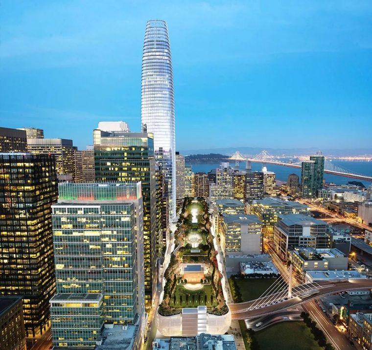 """西萨·佩里十年新作""""Salesforce 塔楼及客运中心"""",2万平米屋顶"""