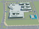BIM模型-revit模型-施工场地部署模型