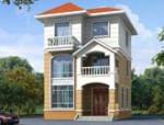 75平方米农村三层小户型别墅设计图