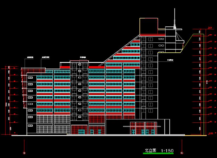 华东设计院——高层Z字形广场归档施工图
