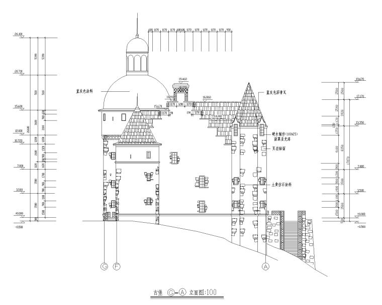 特色园林景观建筑设计施工图-古堡04-Model