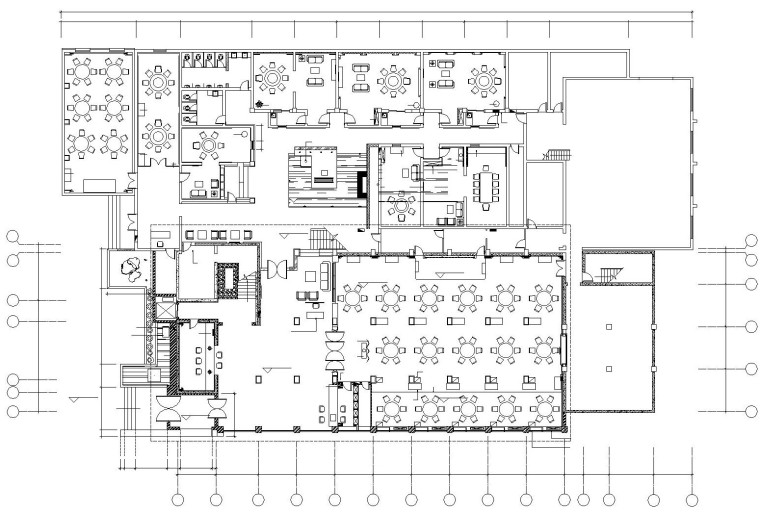 [三门峡]某中式风格大型酒楼内部装饰施工图及效果图