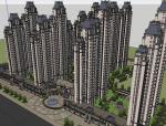 38个特色居住小区规划设计SU模型