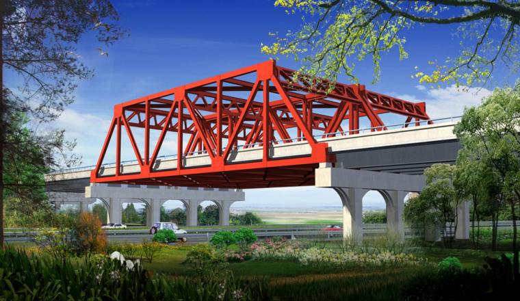 [江苏]跨公路大桥钢桁架梁安装方案汇报材料