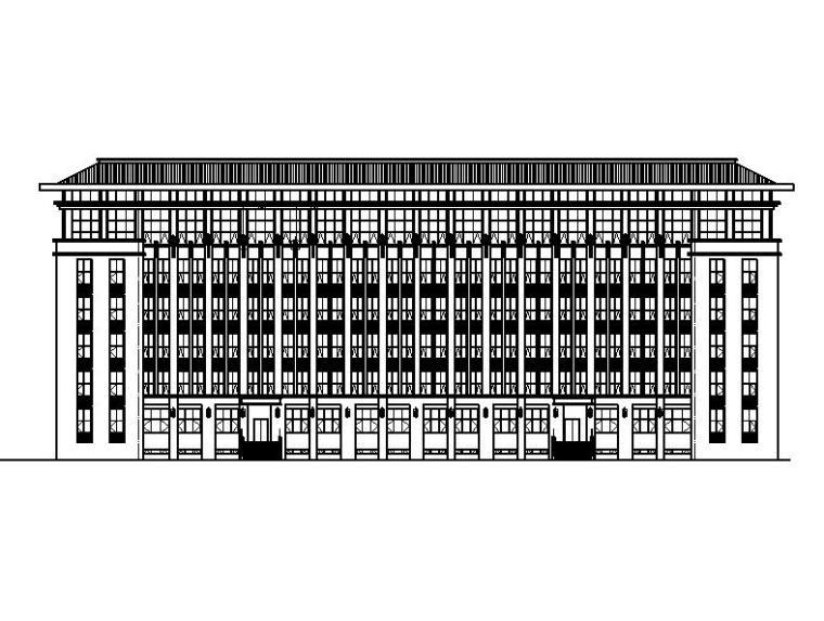 [宁夏]高层石材外墙指挥办公中心建筑施工图(含食堂)