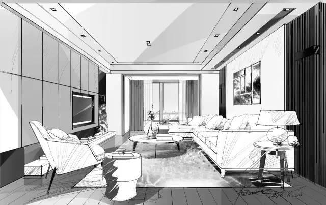 室内手绘|室内设计手绘马克笔上色快题分析图解_3