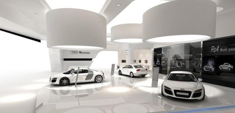 (原创)汽车4S店室内设计案例效果图-汽车4S店 (4)