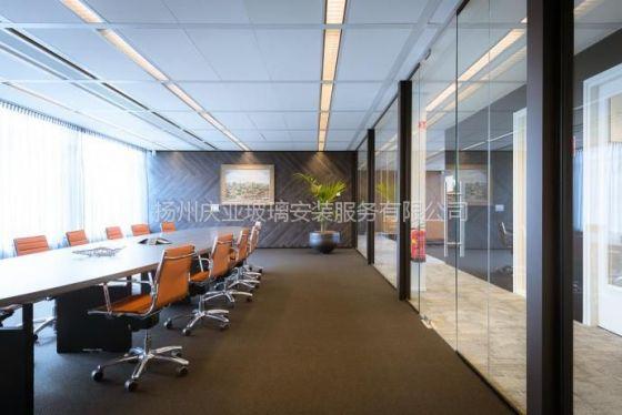 《扬州庆亚玻璃》不锈钢铝合金玻璃隔断玻璃门专业定做安装报价