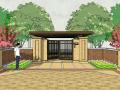 居住区小区大门景观SU模型设计(新中式风格)