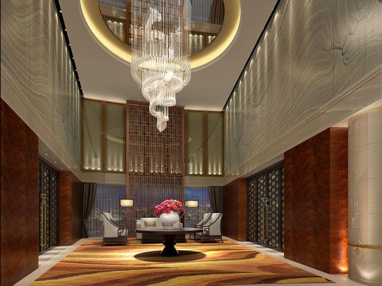 [南京]某大型辦公樓新中式風格概念設計方案