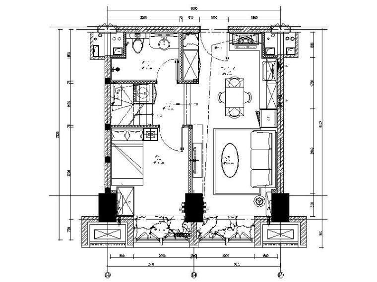 [北京]最新高档LOFT精装修住宅设计施工图