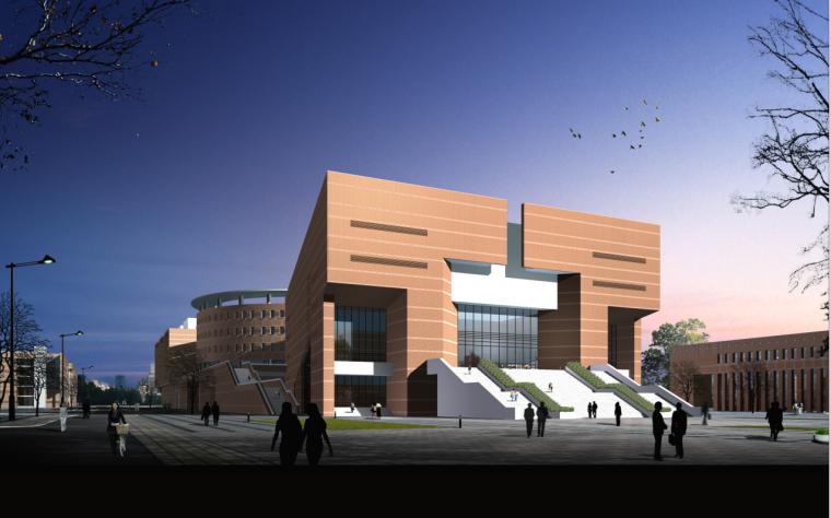 [甘肃]红砖面墙大学教学楼、图书馆及食堂、宿舍建筑(含CAD)