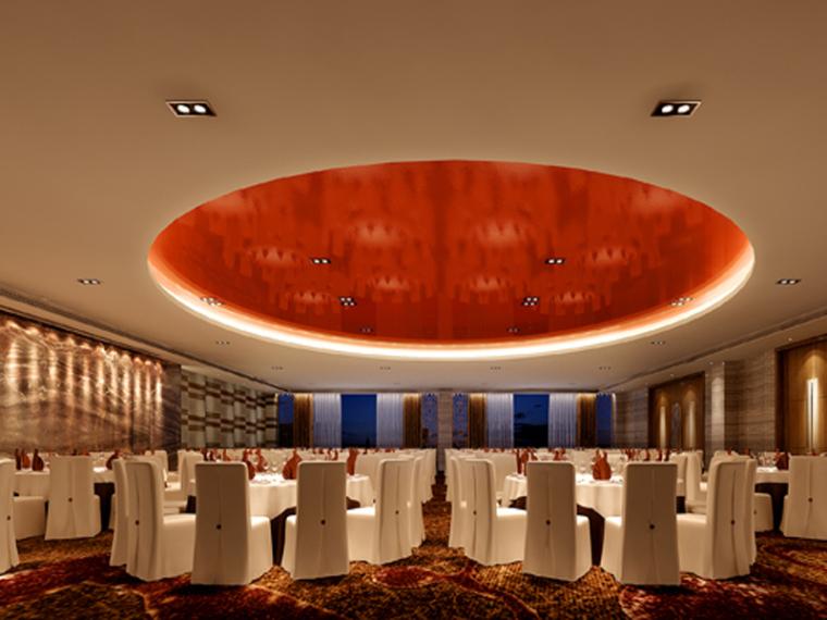 现代宴会厅3D模型下载_1