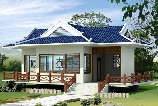 中式别墅庭院设计效果图