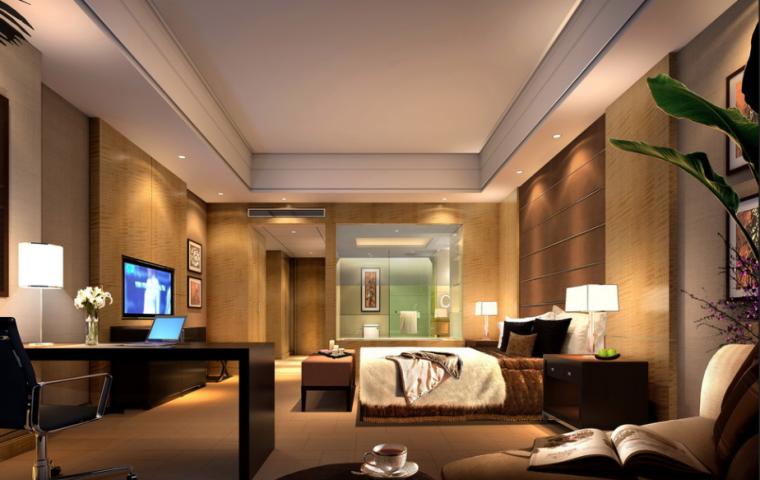 36000平米商务酒店设计施工图(附效果图+材料表)_5